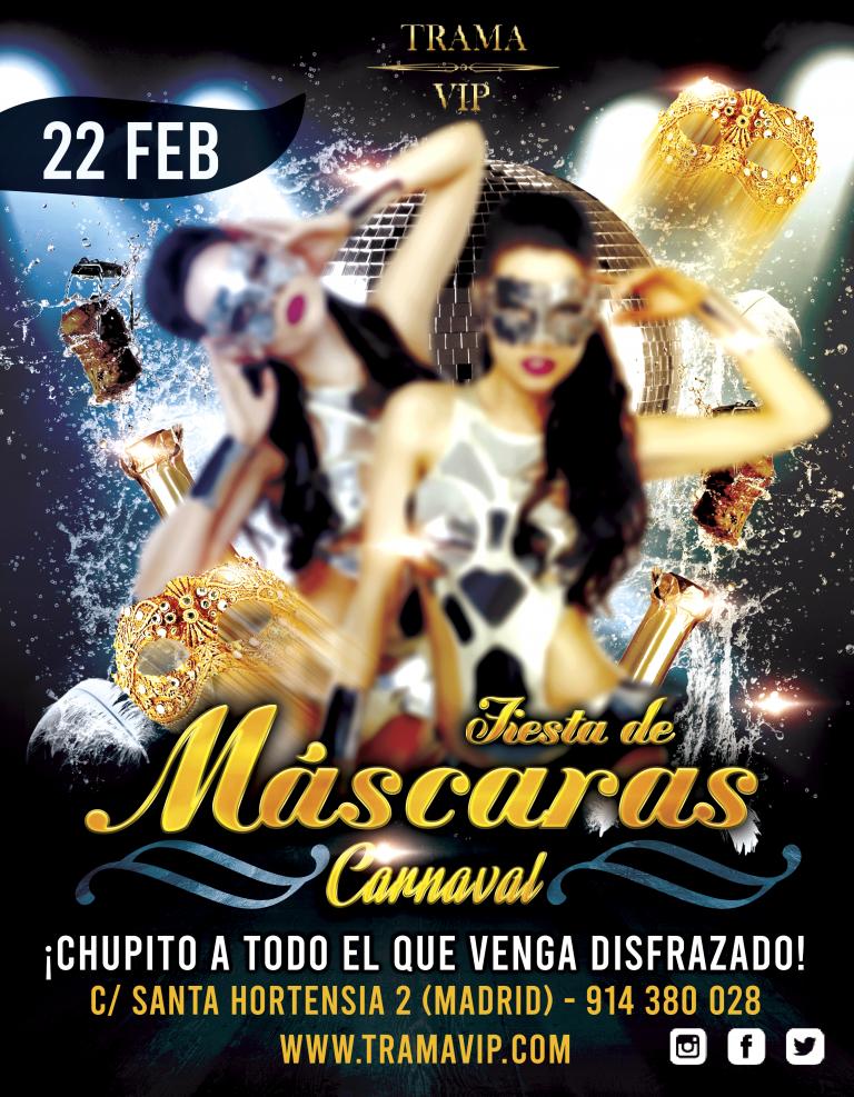 Fiesta de Máscaras – 22 febrero